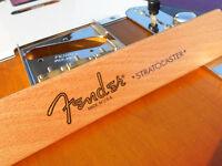 Fender Stratocaster Decal USA (Metallic Gold Logo)