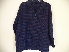 Men's Multi-Color  Covington Pajama Shirt. L. Plaids & Checks. 100% Cotton.