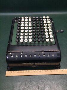 Vintage 1920s BURROUGHS CALCULATOR Adding Machine 10 Digits Desktop Size