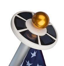 Flag Pole US Kit Fly Flagpole Bright Light LED Outdoor Heavy Duty Solar Powered