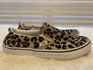 "Vans Leopard Print Slip On Skate Shoes ""Off The Wall""  Men 6.5 Women 8"