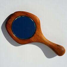 Dean Santner Solid Wood Sculptural Hand Mirror - Biomorphic, Freeform, Organic