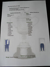1889-90 FA Cup Semi Final Sheffield Wednesday v Bolton Wanderers matchsheet