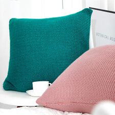 """18"""" Knitted Pillowcase Soft Sofa Bed Office Throw Waist Cushion Pillowcase Cover"""