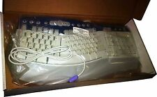 Microsoft Natural MultiMedia Keyboard 1.0A PS2 Ergonomic RT9470 Gray White