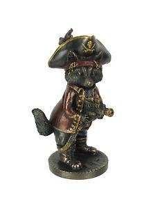 Bronze Finish Jolly Roger Steampunk Buccaneer Raccoon Statue
