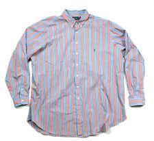 Polo Ralph Lauren L/S Rainbow Striped Button-Down Collar Shirt Men's 3XL Tall