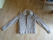 XS Mens/Boys Beige Corduroy Jacket with removable collar. BNWOT. River Island