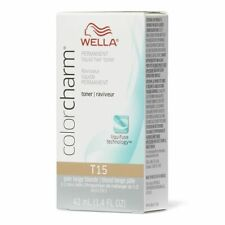 WELLA PROFESSIONALS COLOR CHARM LIQUID HAIR TONER T15 PALE BEIGE BLONDE  42ML