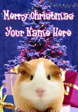 Guinea Pig Merry Christmas Personalised Greeting Card Xmas codeXM114