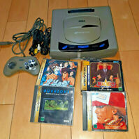 Sega Saturn gray console working 4games(Fatal Fury3 / Real Bout) JAPAN fast ship