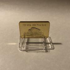 1 OZ Gold Buffalo Bar 100 MILLS Clad .999 24k Fine Bullion