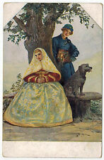 Art of Russian Artist Solomko, Waiting for an Answer,issued by T.S.N. #179,1910s