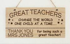 Personalised Teacher Assistant Nursery Christmas School Sign Plaque Present