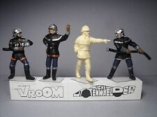 4  FIGURINES  1/43  SET  332  POMPIERS  SOLDATS  DU  FEU  VROOM  UNPAINTED