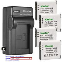 Kastar Battery Wall Charger for Olympus Li-50B LI-50C & Stylus 1010 Stylus 1020