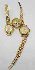 3 x ladies none working hand winding watches a oris and a Ingersoll plus 1 more