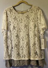 NWT ALFRED DUNNER FLORAL APPLIQUE TOP SIZE 24W