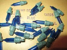 120 - 3 Volt Replacement Christmas Mini Lights Bulbs - BLUE -Green Base 100 +