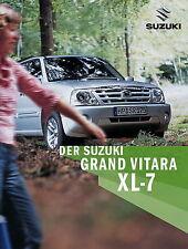 Prospekt 2004 Suzuki Grand Vitara XL 7 9 04 brochure Auto Pkw Asien Japan