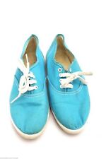 VTG Girls Pointed Toe Sneakers Turquoise 5 1/2 1960s