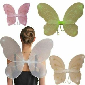 Girls Net Fairy Wings with Glitter Swirls Saint Patrick Day Party Accessories