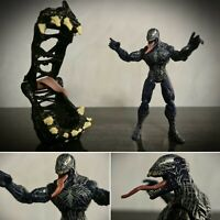 2007 Spider-man 3 Venom Action Figure & Snapping Jaw Trap Marvel Hasbro Rare