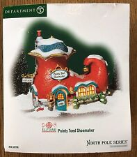 Dept 56 North Pole - Pointy Toed Shoemaker NIB Elf Shoe