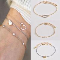 3Pcs Fashion Women Gold Plated Alloy Bracelets Set Rhinestone Bangle Jewelry