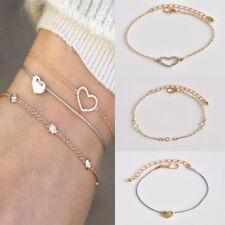 Fashion 3Pcs/Set Gold Chain Bracelet For Women Hot Trendy Cubic Heart Bracelets