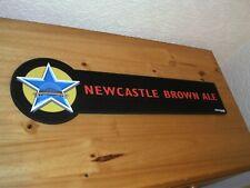 Brand new Newcastle Brown ale thick rubber bar runner, home bar, mancave, pub