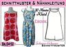 30 Minuten Kleid pdf.Schnittmuster und Nähanleitung Gr.:34-52