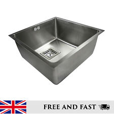 Deep Bowl Undermount Kitchen Sink Square Stainless Steel Single Bowl 3 Sizes