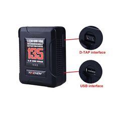 ROLUX YC-135S 135Wh Li-ion Battery V-mount Lock with USB Port For DSLR