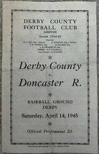 More details for derby county v doncaster rovers 1944/45