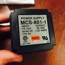 Warner Electric MCS-801-1 POWER SUPPLY