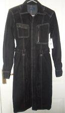 Women's Ralph Lauren Polo a maniche lunghe denim nero Abito Camicia-TG UK 6 EUR 36