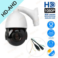 AHD 1080P CMOS HD 30X Zoom PTZ Dome Dustproof Outdoor IP66 CCTV Camera PAL NTSC
