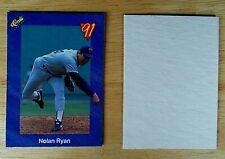 Nolan Ryan 1991 Classic Box Lid Cut Card Mint Oddball