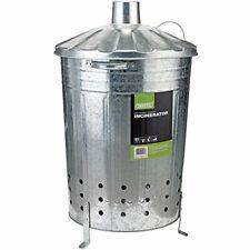Incinérateur de jardin Draper 53253 en acier galvanisé - Argenté - 85 litres