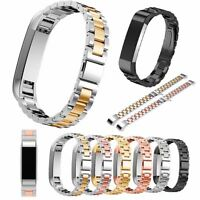 Stainless Steel Accessory Watch Band Metal Strap Bracelet For Fitbit Alta HR