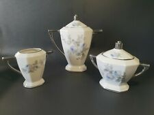 ☕ ancien service a café en porcelaine Limoges verseuse, sucrier, lait art déco