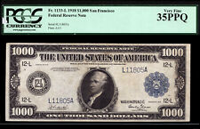 $1000 1918 FRN Federal San Francisco PCGS 35 PPQ - SENSATIONAL PROBLEM FREE NOTE