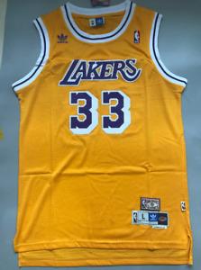 Kareem Abdul Jabbar Los Angeles Lakers Swingman Throwback Jersey Gold Size S-XXL