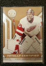 2013-14 TOTALLY CERTIFIED GOLD PATCH PARALLEL JIMMY HOWARD DETROIT REDWINGS #/25