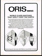 1970's Vintage 1976 Oris Swiss Watch Co. Watches - Paper Print AD