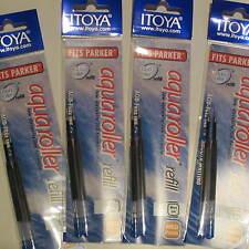 Set of 8 Itoya Aqua Roller Refill, 1.0mm, Blue (Itoya AQR10BU-BP) -4x 2/pk