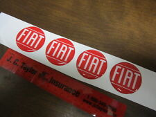 """FIAT WHEEL CAP EMBLEM-RED 1 3/4""""-set of 4 emblems, Rota, Monza, Competizione"""