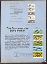 # 2209a FISH BOOKLET 1986 Official Souvenir Page