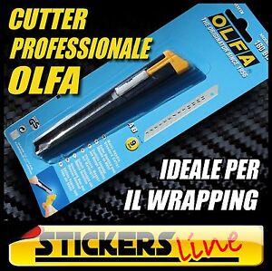 Taglierino professionale OLFA cutter car WRAPPING coltellino per taglio adesivi